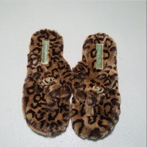 Michael Kors Ladies Thongs Animal Print Faux Fur
